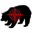 Grizzly bear crosshair vector image