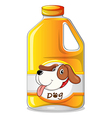A galon of dog soap vector image vector image