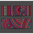 ethnic pattern cards set vector image