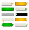 Flat Web Button Elements vector image vector image