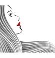 face strip black vector image vector image