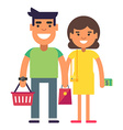 Young couple is reday for a shopping vector image