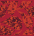 abstract floral seamless pattern with leaves vector image