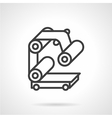 Conveyor part simple line icon vector image