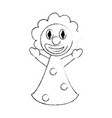 funny clown puppet vector image