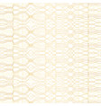 golden geometric pattern on white background vector image