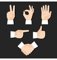 hands set vector image