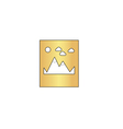 Mountains computer symbol vector image