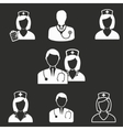 Nurse icon set vector image