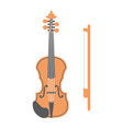 violin flat icon music and instrument vector image