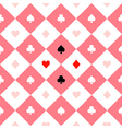 Card Suits Pink White Chess Board Diamond vector image