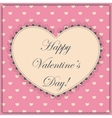 Happy Valentine day vintage vector image