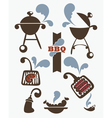 collection of bbq symbols vector image vector image