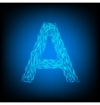 Water letter A vector image