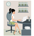 Secretary at office vector image