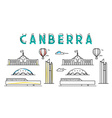 Canberra Capital city Australia Sights of vector image