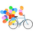 Bicycle with Balloons vector image