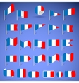flags of france vector image