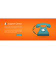 flat style web banner support center vector image