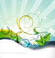 nature style wave vector image