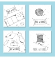 Printable cards for sites in the retro style vector image