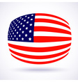 Stylish american flag for Independence day vector image