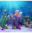 the underwater world vector image
