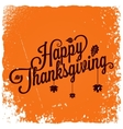 Thanksgiving vintage card background vector image