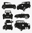 Set retro cars vector image