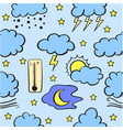 doodle of weather style various vector image