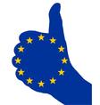 European finger signal vector image vector image
