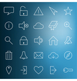 Set of modern web icons vector image