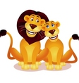lion couple vector image vector image