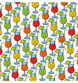 background pattern with cocktail glasses vector image