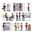 Bank People Set vector image