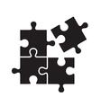 black puzzles vector image