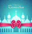 Happy Ramadan Islamic Greeting Background vector image