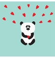 Panda baby bear Cute cartoon character holding vector image