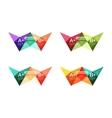 Colorful option banner arrow templates vector image