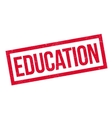 Education rubber stamp vector image