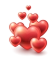 Group of Hearts flying up vector image