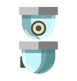 Security cctv camera in front and side view vector image