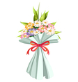 A boquet of fresh and blooming flowers vector image
