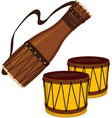 Bata and bongo drums vector image