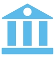 Bank flat blue color icon vector image