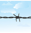 Barbed wire seamless vector image