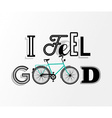 Bike concept bicycle motivation retro text poster vector image