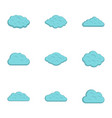 cloud icon set flat style vector image