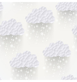 cloud seamless pattern with snowflakes hipster vector image