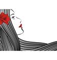 face strip flower vector image